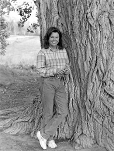 Marsha mason by tree on resting in the river organic farm