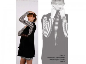popomomo's oversized button vest from fall line '09