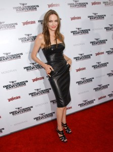 Photo by PR Photos; Angelina Jolie in leather at Inglorious Bastards Premier