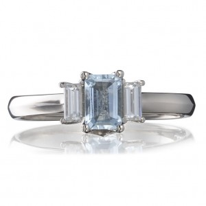 Aquamarine engagement ring by Cred Jewellery