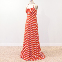 chevron print maxi dress