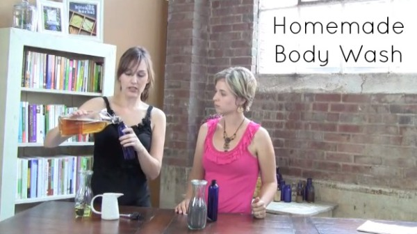 Exfoliating Homemade Body Wash without Plastic Microbeads