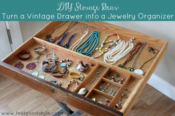 DIY Storage Ideas: Turn a Vintage Drawer into a Jewelry Organizer