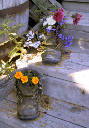 Old Boots Make Whimsical Planters