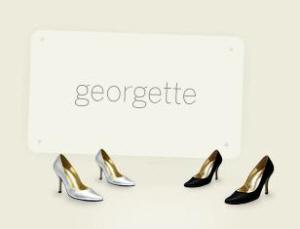 Logo for Georgette, an Antwerp-based company specializing in animal-friendly footwear.