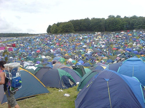 Party Tents at Music Festival