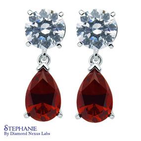 synthetic ruby earrings from Diamond Nexus Labs