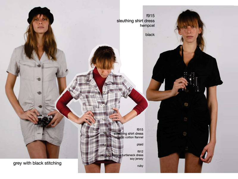 popomomo's sleuthing shirt dress from the fall '09 line