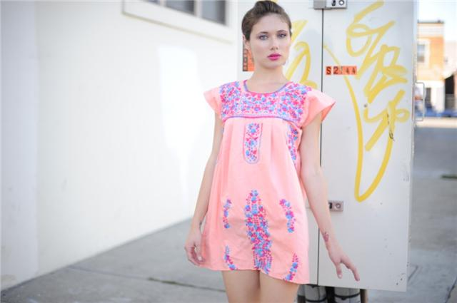 Taxi CDC's Embroidered Dress