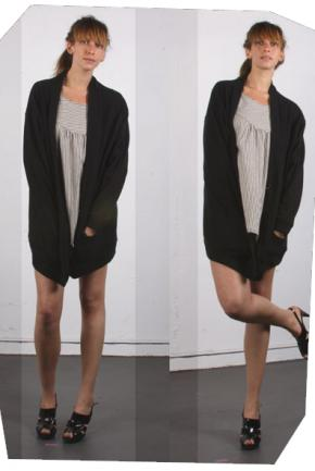 Popomomo Oversized Button Sweater with River Heights Dress