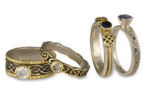 Artisan wedding rings by Reflective Images
