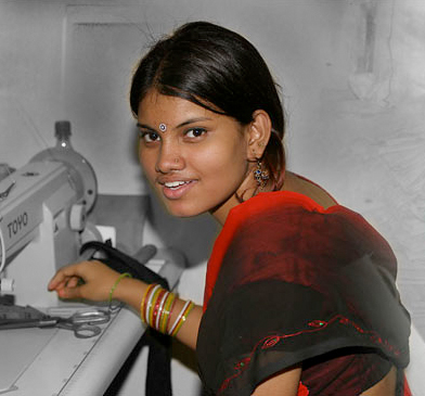 Image of Woman Employed by Freeset in Kolkata (Calcutta) India - Help Free Women from the Sex Trade