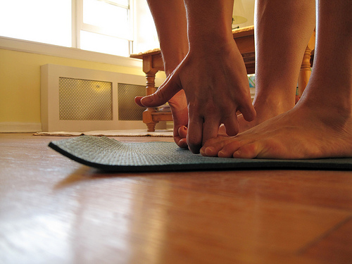 yoga standing forward bend