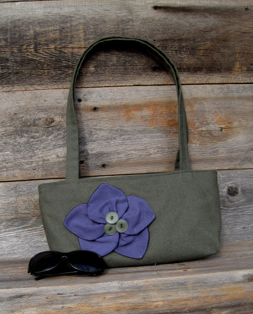 The Vogue Purse: one of Rachel Shelton's upcycled bags