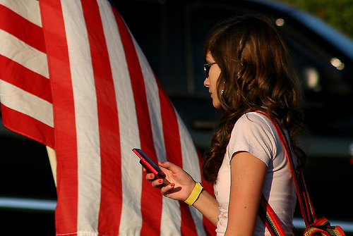 girl holding cell phone