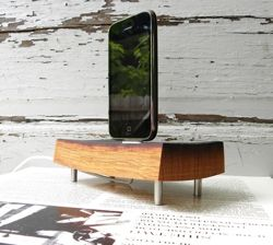 wooden ipod charger