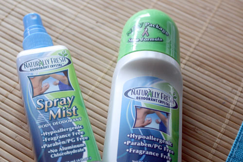 deodorant test: Naturally Fresh