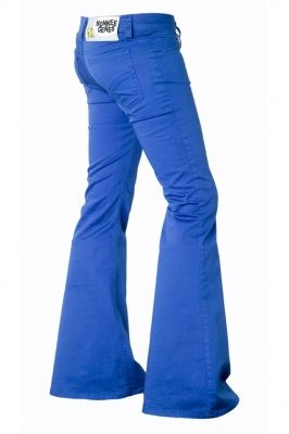 electric blue flares