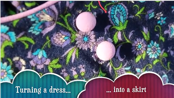 how to sew a skirt from an old dress