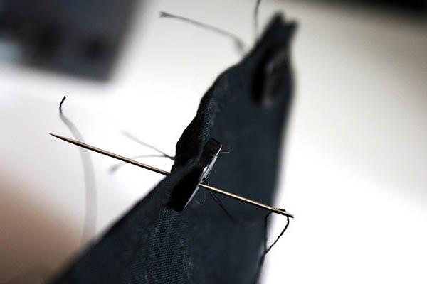 mending sew a button