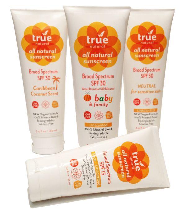 True Natural Sunscreens