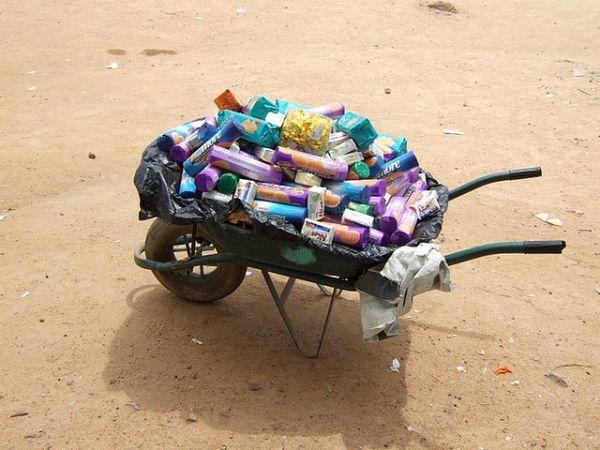 Wheel barrow full of products by awaaba.padi