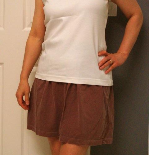 old t-shirt skirt