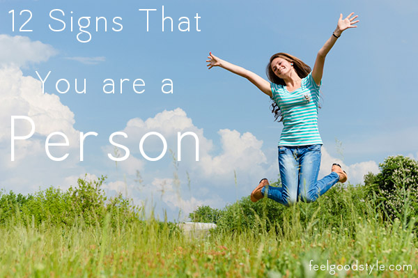 signs that you are a person