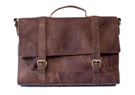 Organic Leather Messenger Bag