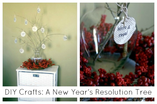 DIY Crafts: A New Year's Resolution Tree