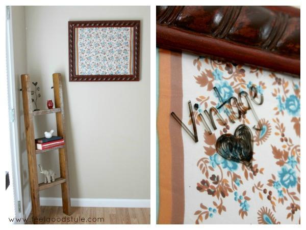 DIY Decor: Turn a Vintage Handkerchief into Wall Art