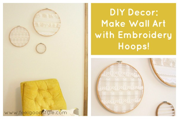 DIY Decor: Make Wall Art with Embroidery Hoops!
