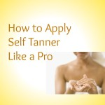 Self Tanner Application