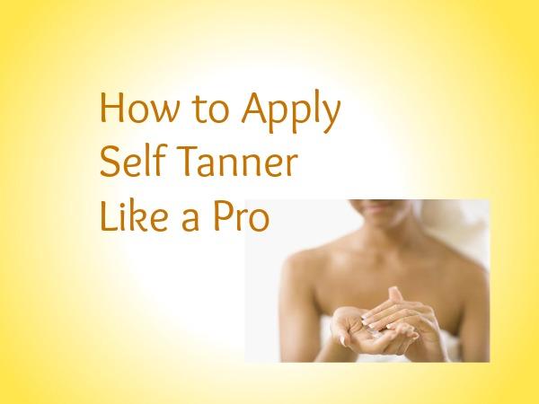 Self Tanner Application