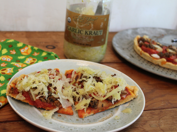 Pile sauerkraut on a pizza for its healthy probiotic benefits