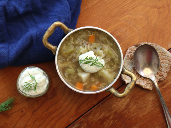 Drink sauerkraut soup for a hit of vitamin C