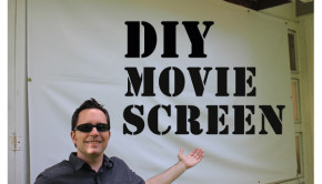 Recreate the drive-in movie theatre experience with a DIY movie screen
