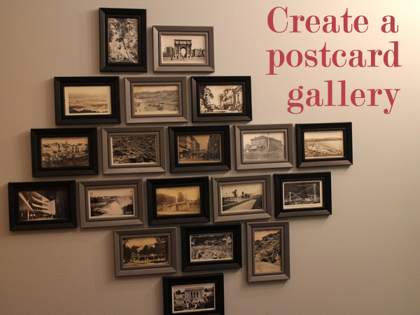 create a gallery wall with postcards feelgood style