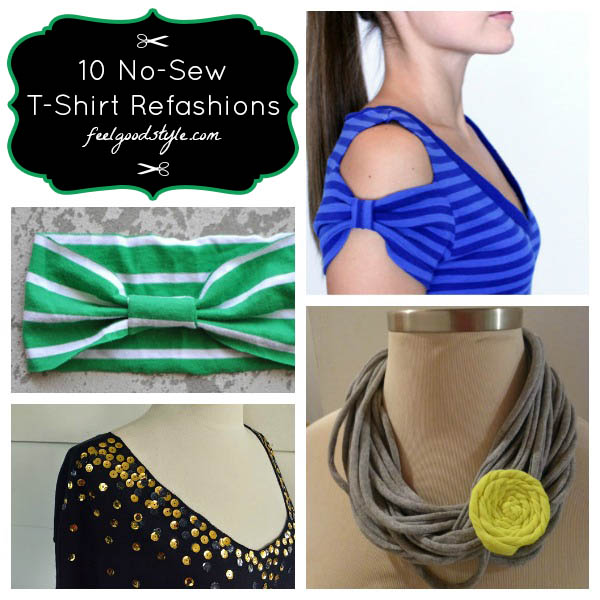 10 No Sew Projects To Refashion Old Tees