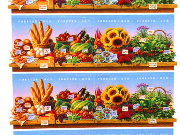 USPS releases farmers market stamps