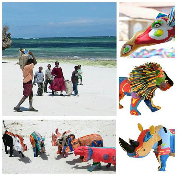 Recycling Flip Flops into Beautiful Art