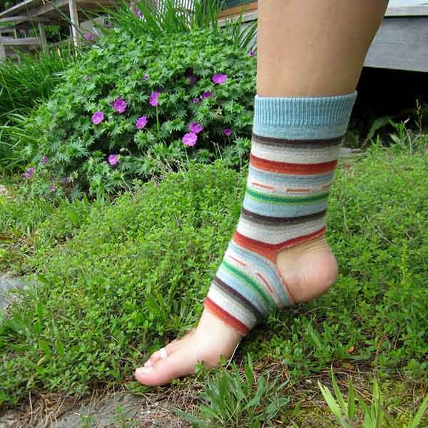 Make Yoga Socks from an Old Pair of Socks