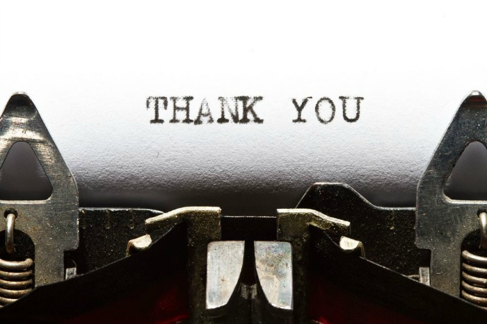 Thank You image via Shutterstock