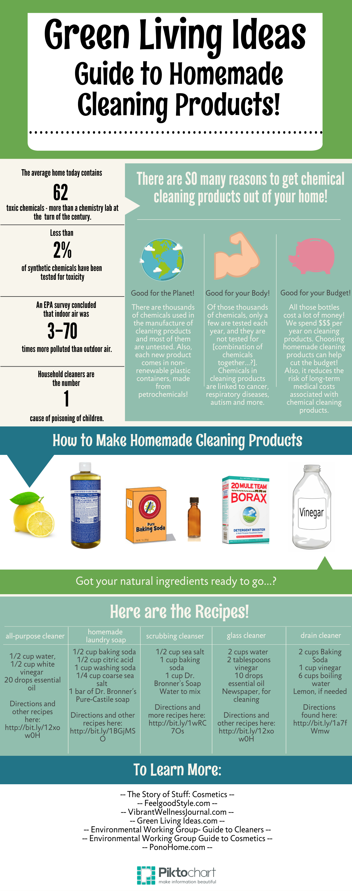 Visual Guide to DIY Green Cleaning Products