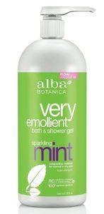 alba botanica sparkling mint shower gel