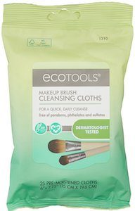 ecotools makeup brush cleaner wipes