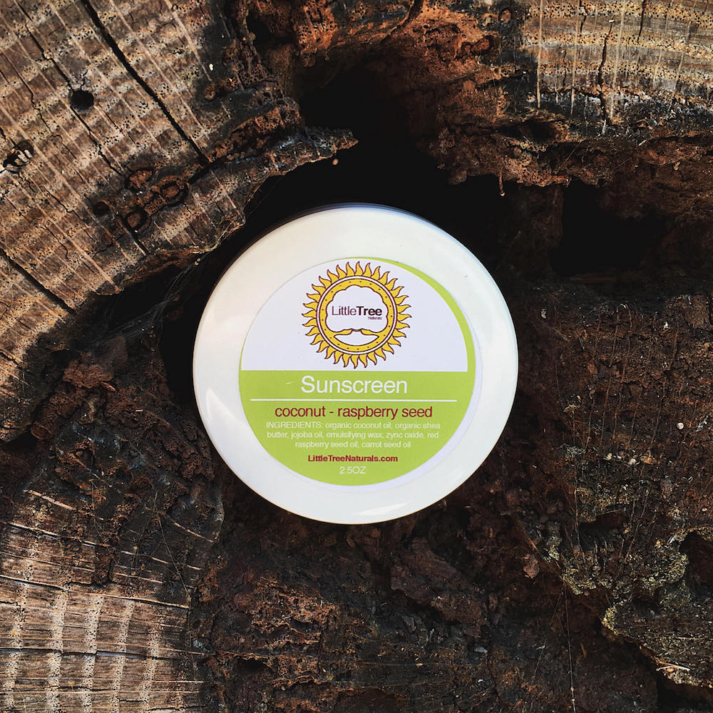 coconut raspberry seed sunscreen